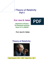 Special Theory of Relativity-Part I