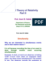 Special Theory of Relativity Part II