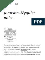 Johnson–Nyquist Noise