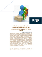 El Voto Un Ejercicio de La Democracia Electoral