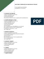 Lista de Materiais Para Confecção de Recursos Visuais