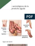 Apendicitis Semiología