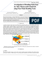 Experimental Investigation of Bending Behaviour of Aluminium Alloy Honeycomb Sandwich Structure using Four Point Bending Tests