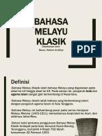 Bahasa Melayu Klasik (Stpm Sem 1)