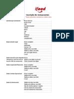 Adesao e Ficha Cadastral IFOOD