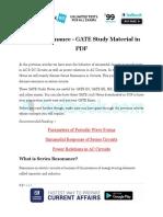 Series Resonance - GATE Study Material in PDF