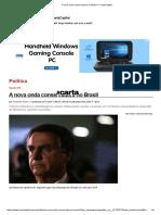 A Nova Onda Conservadora No Brasil