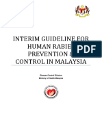 Interim Guideline for Prevention and Control of Human Rabies in Malaysia