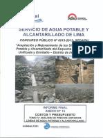 Lineas de AP y Alcantarillado - APU