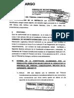 Demanda de inconstitucionalidad presentada por Lescano