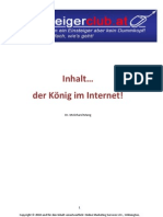Inhalt... der König im Internet