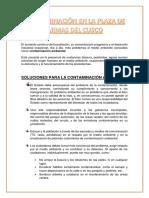 Contaminación en La Plaza de Armas Del Cusco