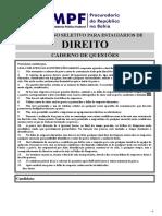 Prova Direito CONCURSO ESTAGIO  MPF