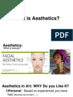 aesthetics - student presentation