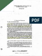 Prosper Weil Towards Relative Normativity in International Law