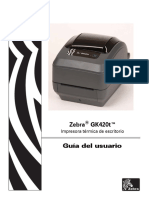 Manual Zebra Gk420t
