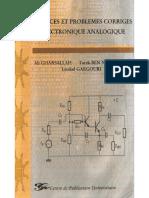 Livre Exercices Et Problème Corrigé en Electronique Analogique