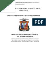 TDR Diseño de Mezclas