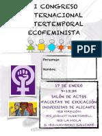 Programa Mano Congreso Ecofeminista Intertemporal Internacional
