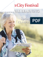 Festival Learning Spring 2018 Classes