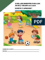 """actividades de """"Recorto y Aprendo"""" del bimestre 3, para los alumnos de 5o grado"""