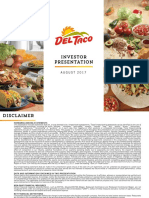 TACO Del Taco Investor Presentation August 2017