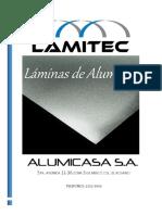 Catalogo ALUMICASA, S.a. 2017 Láminas Aluminio