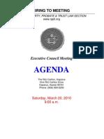 RPPTL 2010 Agenda