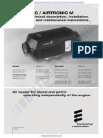 Eberspacher Airtronic D2 Technical Manual