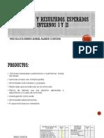 Coloquio y Resultados Esperados Internos i y II