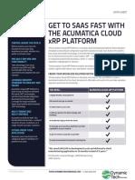DynamicTech Acumatica XRP Platform Data Sheet