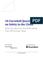 10 Curveball Questions on Safety in the Cloud Procullux Ventures 2014