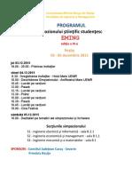1. Programul Simpozionului EMING 2015