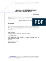 Determination of Free Energies on a Simulation Model (J. KASAC)