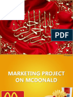 Marketing Project on Mcdonald