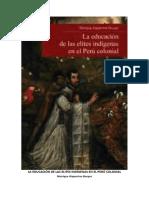 Alaperrine-Bouyer - La Educación de Las Elites Indígenas en El Perú Colonial - IfEA