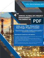 4th Annual Global EPC Project Management Summit September 2017.