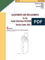 Kodak DirectView CR-825,850 - Adjustments