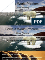 solve a world problem  global warming