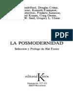 Foster Hal - La Posmodernidad