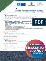 Erasmus 30 Años de Movilidad en Europa
