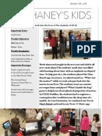 Mr. Haney's Week 19 Newsletter