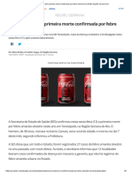 Estado Do Rio Tem Primeira Morte Confirmada Por Febre Amarela Em 2018 _ Região Serrana _ G1
