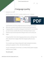 3 Models of Language Quality Assurance