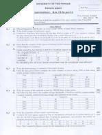 Statistics Sample Paper
