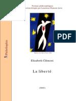 [Essais Philosophiques] Clement El. La Liberte 1995