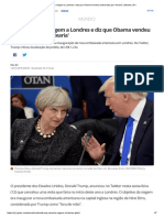 Trump Cancela Viagem a Londres e Diz Que Obama Vendeu Embaixada Por 'Mixaria' _ Mundo _ G1