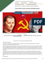 O Comunismo e o PT Uma Retórica Para Asseclas Desinformados