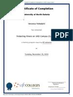 Vern's Certificate
