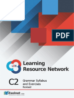 C2 Grammar Syllabus and Exercises for the LRN (Revised)